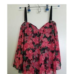 Other - Floral bikini top